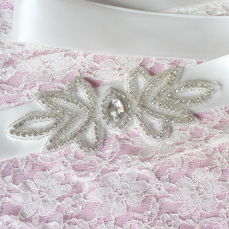 JaneVini Hot Sale Crystal Satin Bridal Belt With Stones Bride Wedding Belts For Dresses Beaded Diamond Ribbon Sash Accessories