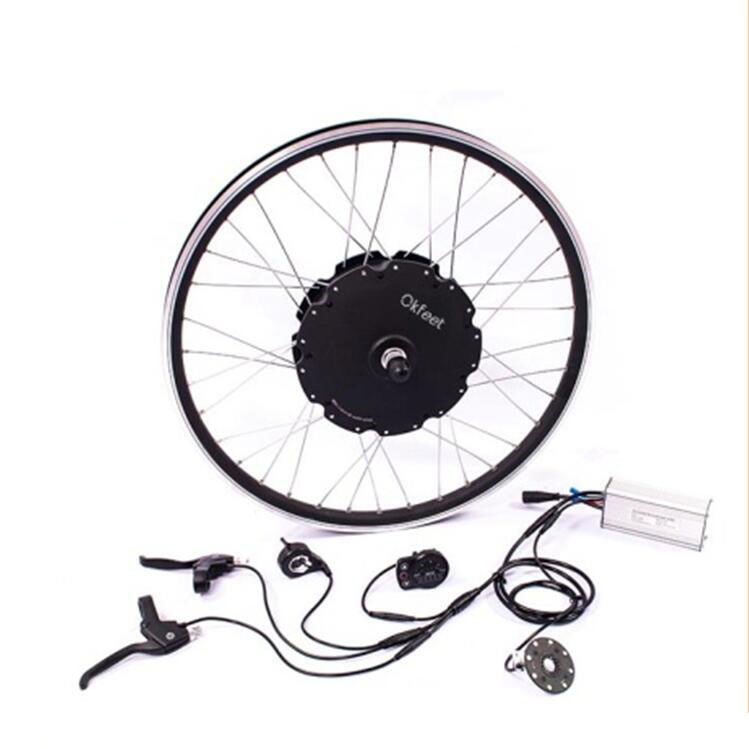 Electric Bycicle Conversion kit 500W 36V 48V DC Gear Brushless Hub Motor For eBike 20-28 Front Wheel Bike Cycling Motor Kit 3 9kg 40kph 48v 500w brushless gear hub motor for rear ebike electric bike or electric bicycle