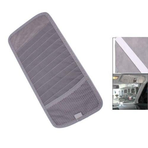 GSFY-Grey Car Sun Visor 12 Disc CD DVD Card Case Wallet Storage Holder Organizer