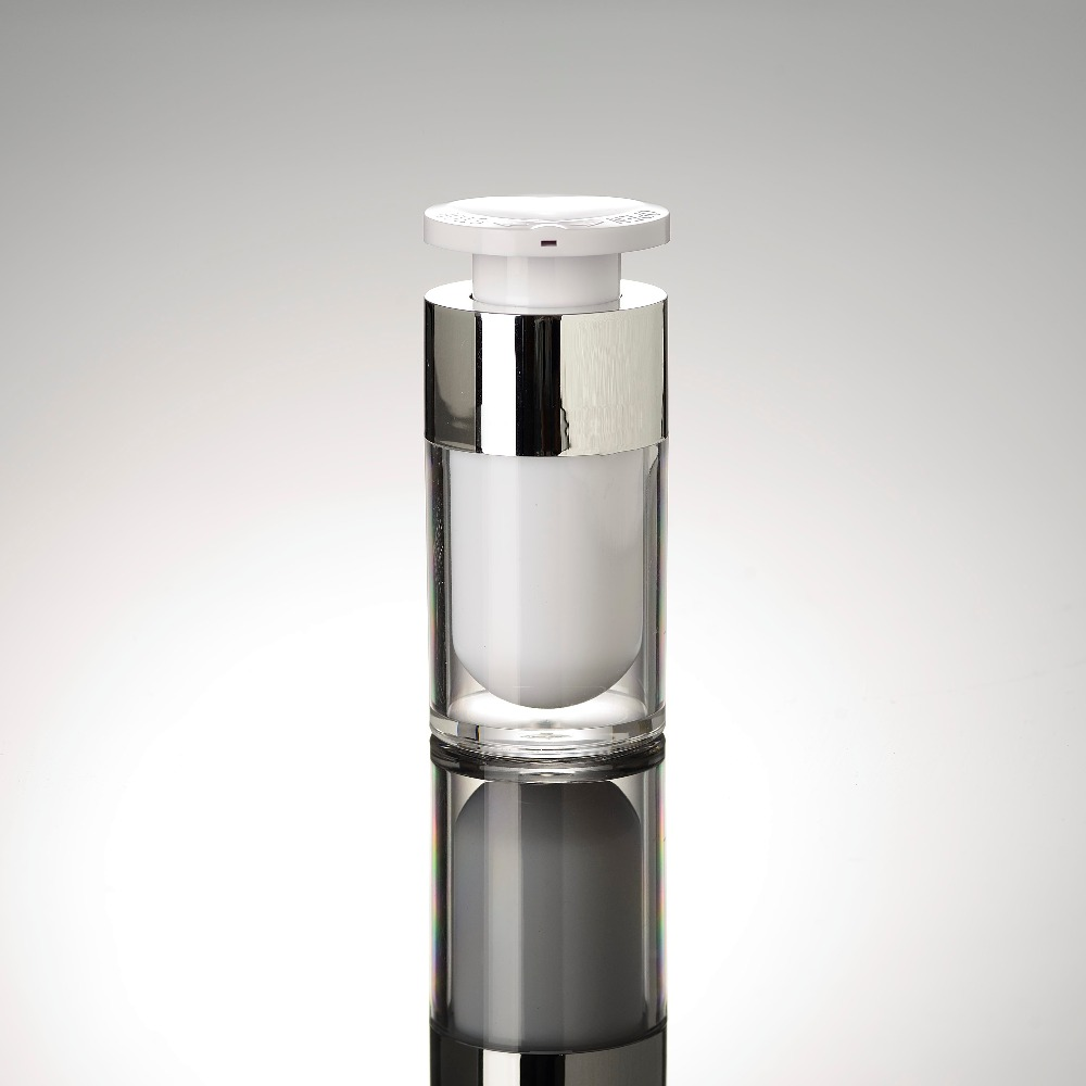 15ml Lock Head Acrylic Airless Vacuum Pump Lotion Bottle