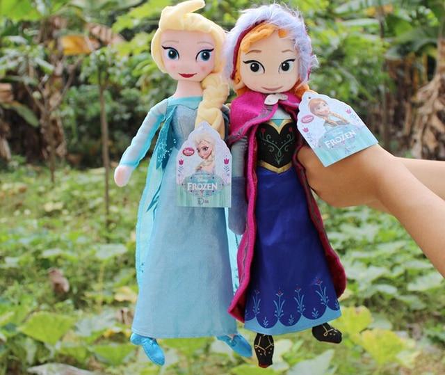 40 50CM brinquedos dolls Plush Toys Princess Anna and Elsa Doll sven olaf Plush soft Doll Kids toys for Girls Children Elsa Anna