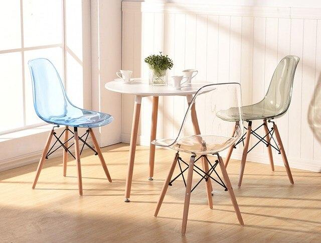 Excellent Modernes Design Transparent Acryl Modernen Speisesaal Seite Klar  Rauch Kristall Stuhl Kunststoff Und Holz Klassischen With Stuhl Plastik