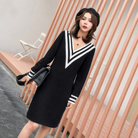 Large size Women's Custom made 2019 Winter Dress V Neck Cheap Clothes China Plus Size Sexy Dress Shein Dl264h