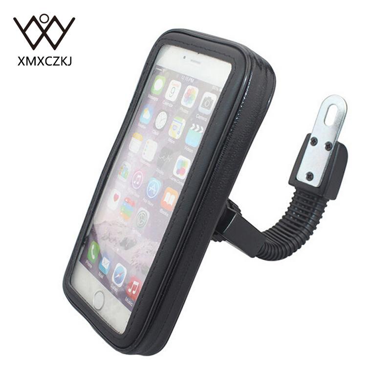 High Quality Universal Motorcycle Mobile Phone Holder Waterproof Bag Case With Handlebar Bracket Mount Base For iPhone 6 Plus mobile phone