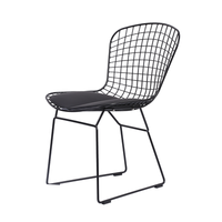 Nordic wire chair modern minimalist metal wrought iron chair home dining chair