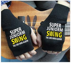 US $11 97 22% OFF EXO KPOP Sales Fine Mitt Exposed Finger Women's Gloves  Winter Autumn Knitted for Women Fingerless Gloves Wrist Mittens k pop  bts-in