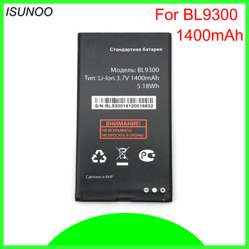 ISUNOO 5pcs/lot 1400mAh BL9300 battery For Fly BL9300 mobile phone battery image