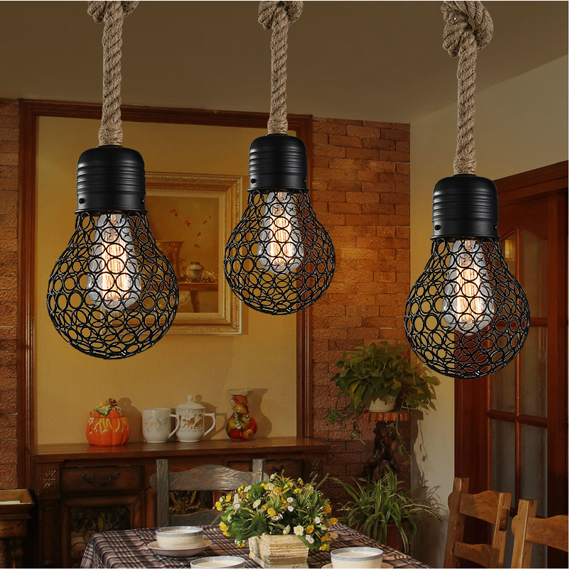 vintage lighting rope ceiling lights hemp lamp from com in on item industrial bar cafe light aliexpress chandelier pendant restaurant edison hanging