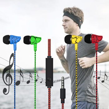 3.5mm Wired Earphone Sport Headset Super Bass Crack Earphone Earbud with Mic Hands Free Headphone for Sony Xiomi fone de ouvido