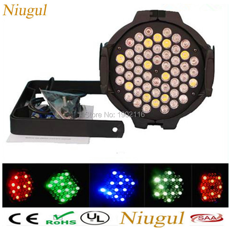 Niugul 54x3W RGBW Led Par Light BAR Nightclub dj disco lights DMX512 stage effect lighting par led wash light With Fast shipping 2pcs dj disco par led 54x3w stage light dmx strobe flat luces discoteca party lights laser rgbw luz de projector lumiere control