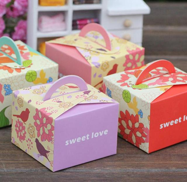 50pcs Baby Shower Favors Girl Boy Kids Birthday Party Candy Boxes