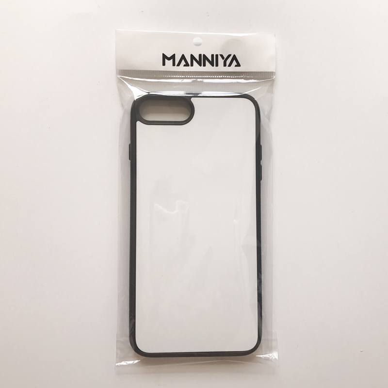 Image 3 - MANNIYA 2D Sublimation Blank rubber Case for iphone 7 plus 8 plus with Aluminum Inserts and glue Free Shipping! 100pcs/lot-in Half-wrapped Cases from Cellphones & Telecommunications