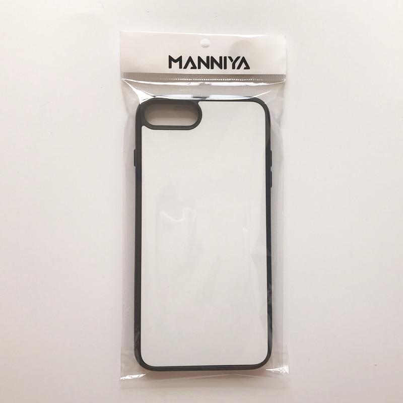 MANNIYA 2D Sublimation Blast Rubber Case for iphone 7 plus 8 plus - Բջջային հեռախոսի պարագաներ և պահեստամասեր - Լուսանկար 3