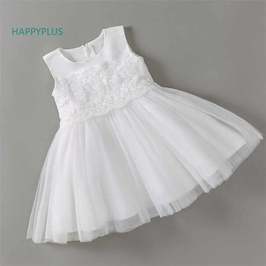 e88a675147781 HAPPYPLUS Pink White Formal Baby Dress for Birthday Girls Clothes Baby Girl  Dresses Wedding Princess Party Dress Shower Infant