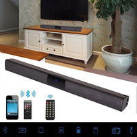 20W Sound Bar Bluetooth Soundbar Column Dual Subwoofers Speaker Home Theater Surround Sound System Hang Wall Built in 3D Stereo