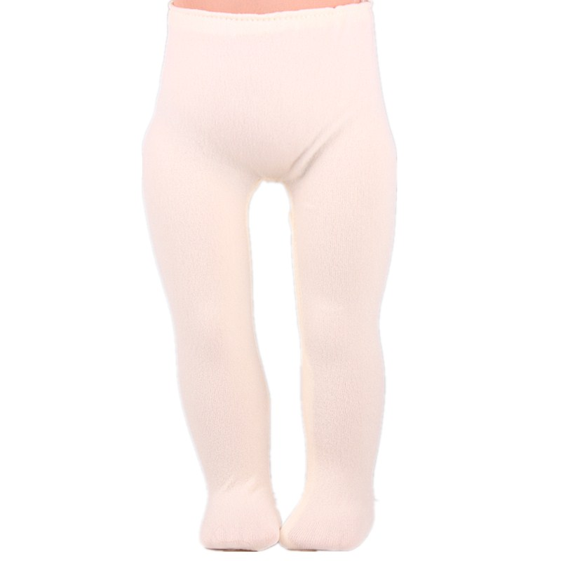 Soft Beige Tights Leggings Our Generation Accessories For Dolls Fit 18 inch American Girl Doll Clothes and 43CM Baby Doll american girl doll clothes superman and spider man cosplay costume doll clothes for 18 inch dolls baby doll accessories d 3