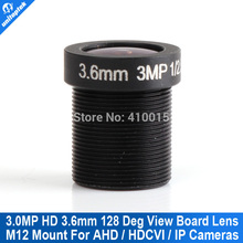 "1/2.5"" M12 F2.0 3.0 Mega pixels CCTV Camera Lens 3.6mm Wide Angle Lens For HD IP CCTV Security Cameras"