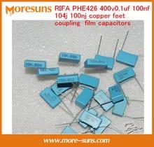 Free Ship 10pcs/lot RIFA PHE426 400v0.1uf 100nf 104j 100nj copper feet coupling film capacitors