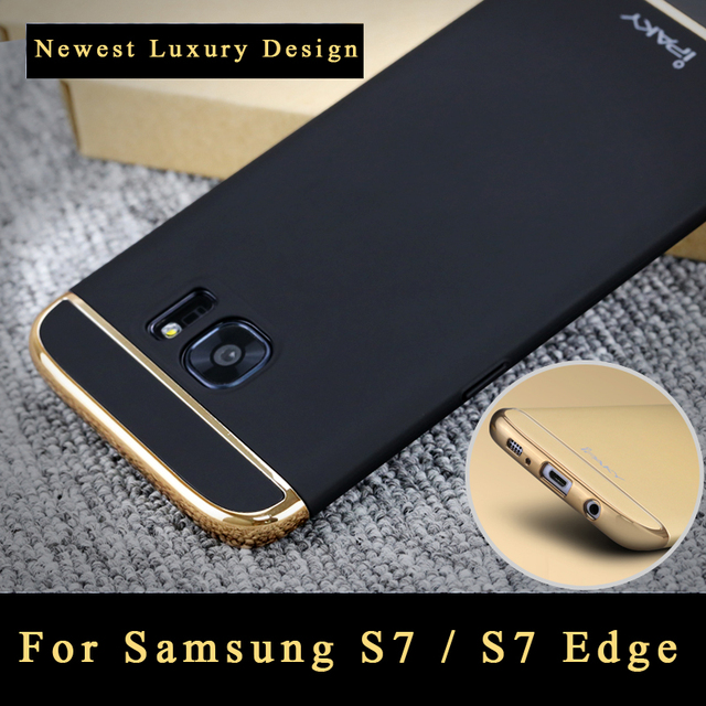 premium selection d4d0c 544b7 iPaky 3 IN 1 Plating Cases For Samsung Galaxy S7 Edge Case Coque For  Samsung S7 Edge Case Silm PC Cover For Samsung S 7 Cases