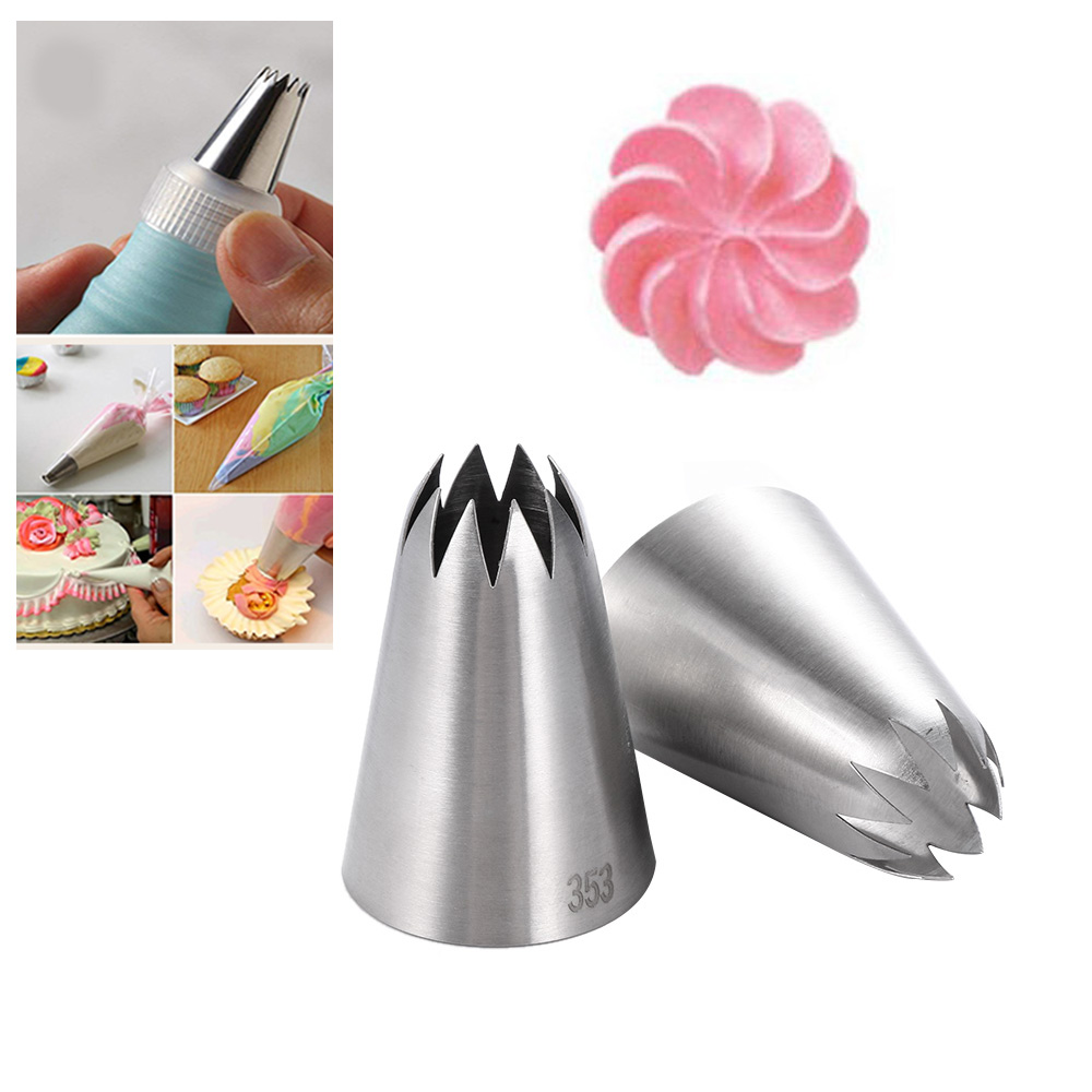 1pc Cake Icing Piping Nozzles Baking Tools Russian Tulip Flower Decorating Tips