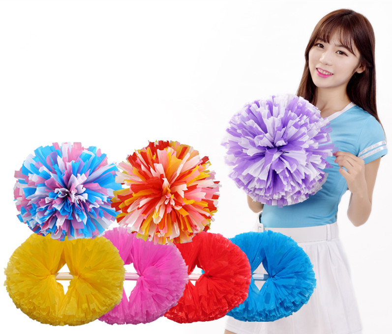 Free Shipping Game pompoms Cheap practical cheerleading cheering pom poms Apply to sports match and vocal concert