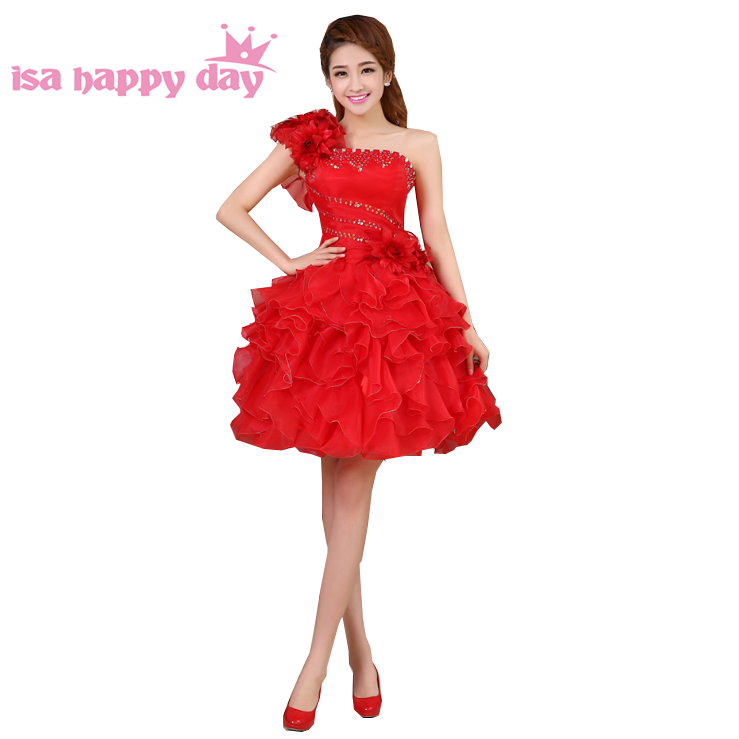 Vente Chaude De Mode Robe Mariage Jaune Rouge Adolescent Filles