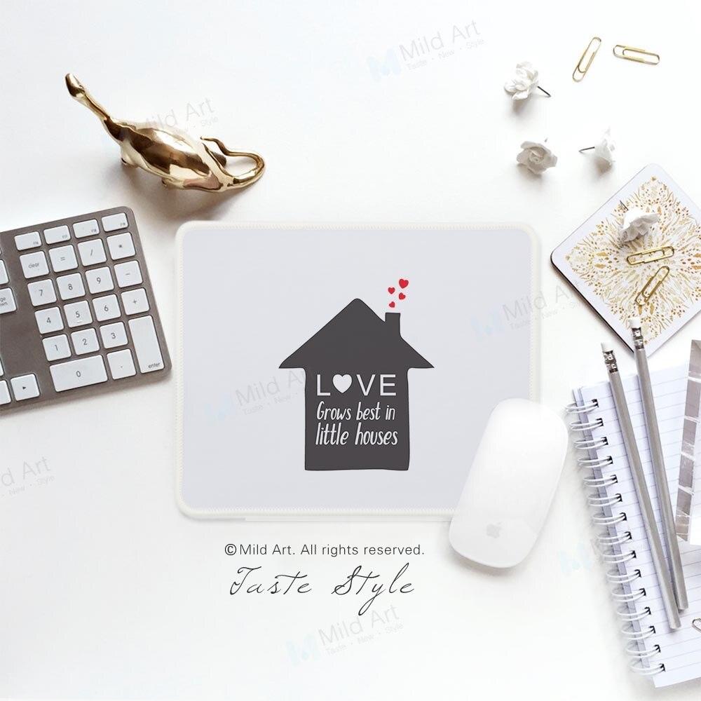 Nordic Стиль черный, Белый Цвет Office для дома Семья любовь котировки минималистский Творческий подарок для девочки PC Gamer игровой компьютер Мышь ... ...