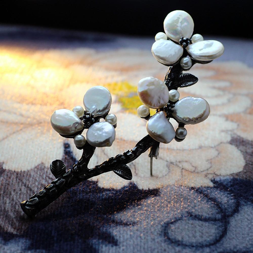 JUJIE сәнді меруерттер гүл брошьтары - Сәндік зергерлік бұйымдар - фото 5