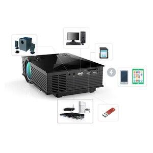Image 4 - Salange Proyector de vídeo Mini UC46, LED de 800x480, 1800 lúmenes, cine en casa, WIFI, compatible con Miracast/Airplay, Proyector Full HD
