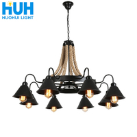 American Chandelier Rural Loft Iron Retro Industrial Wind Restaurant Bar Clothing Store Hot pot Internet Cafe Boat Chandelier