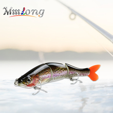 Mmlong 16.5cm Pike Fishing Lure Artificial Bait AL18B-S Lifelike 3 Segments Swimbait VMC Hooks Wobblers Crankbaits Fish Tackle