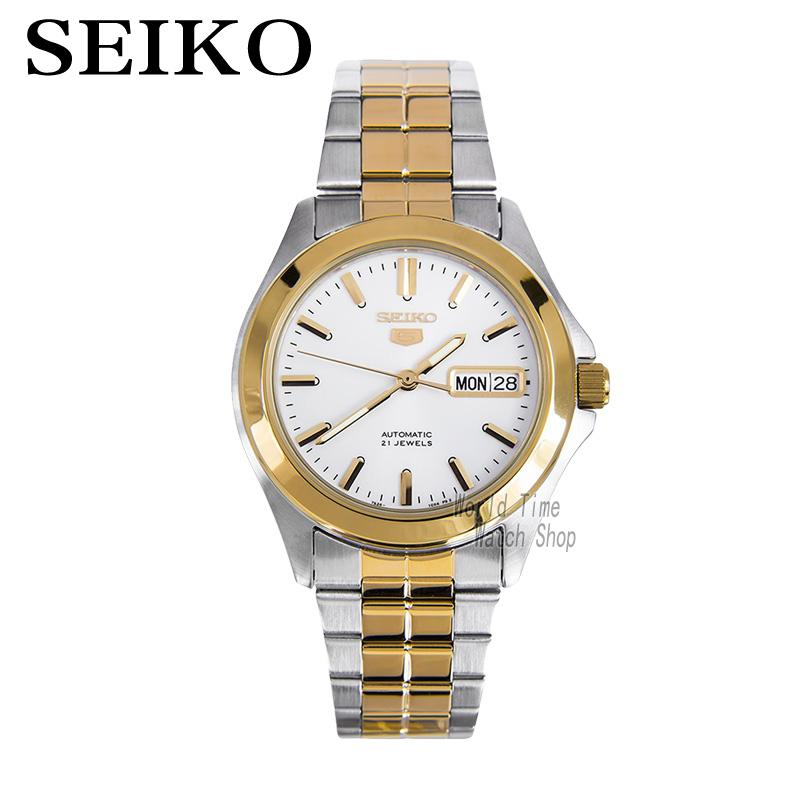 SEIKO Shield No. 5 Casual Fashion Stainless Steel Automatic Mechanical Watch SNKK94K1 seiko shield no 5 business week calendar steel band automatic machine male watch snke01j1 snzf36j1 snzf35j1