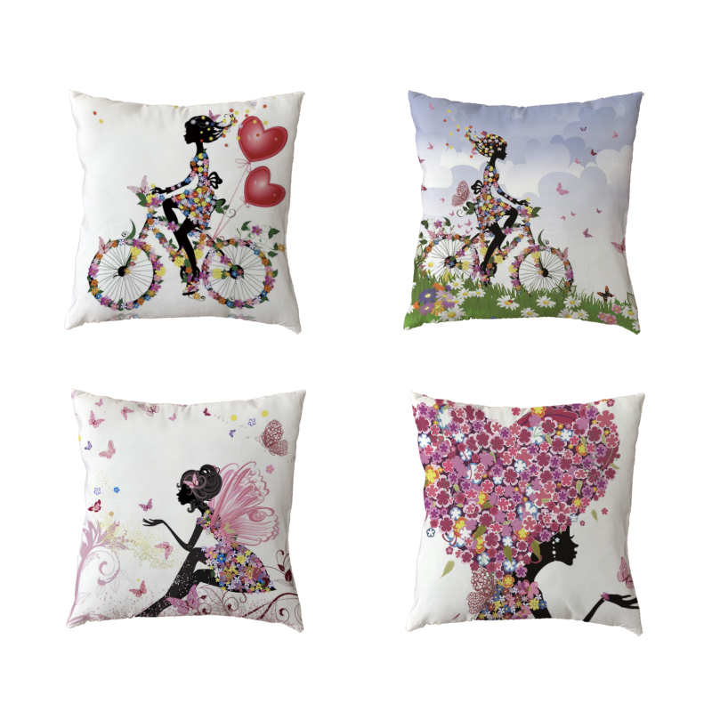 Sofa Pillows Contemporary: Girl Decorative Pillows Cases Modern Throw Pillows Cover