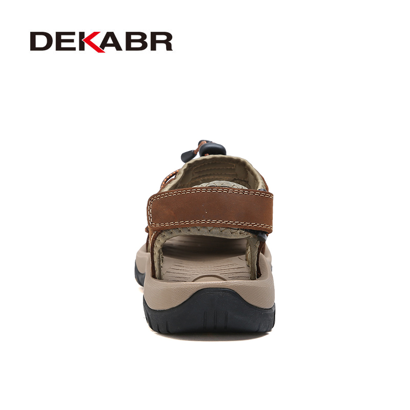 Image 3 - DEKABR High Quality Men Sandals Fashion Genuine Leather Casual Shoes Classic Style Male Sandals Breathable Summer Shoes for Menshoes classicshoes forshoes for men -