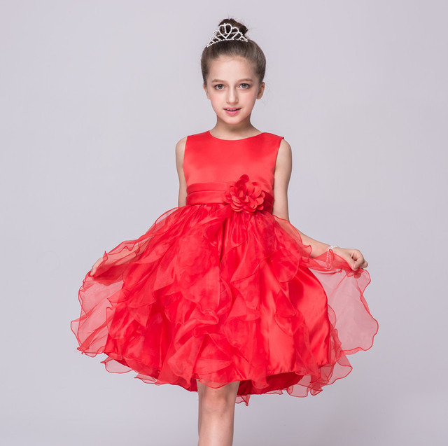Girls Dress Summer Children High Grade Dresses Birthday Party Childrens Clothes 4 5 6 7 8 9 10 11 12 Years Old