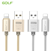 GOLF 1m 2m 3m Metal Braided 8-Pin USB Charging Data Sync Cable For iPhone 6 6S 7 Plus 5 5S 5C SE iPad mini 2 Phone Charger