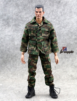 1 6 Scale Clothes Set Soldier Accessories Jungle Camouflage Combat Uniforms For 12 Male Military Action