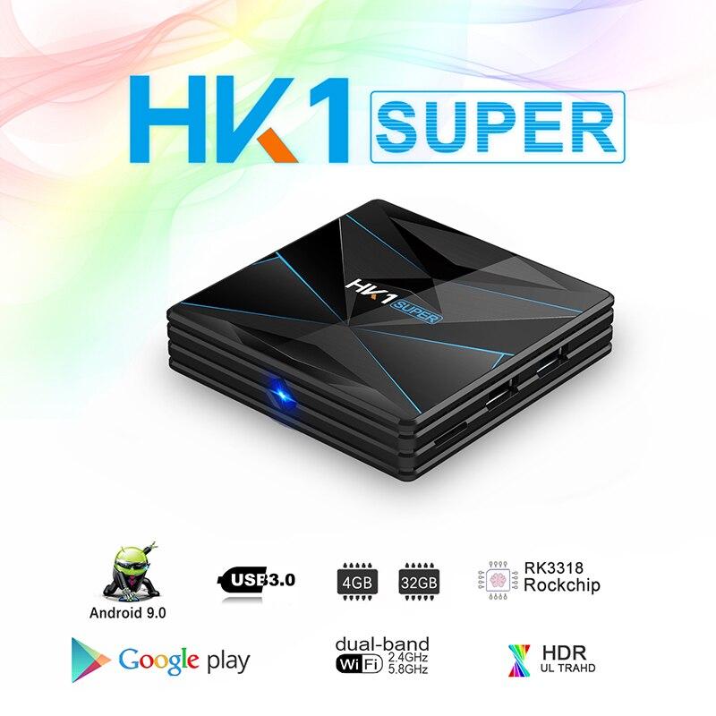HK1 Super Android 9.0 TV BOX Rockchip RK3318 4GB RAM 64G ROM USB 3.0 2.4G/5G Dual WIFI BT4.0 HDR 4K 3D Set Top Box Media Player(China)