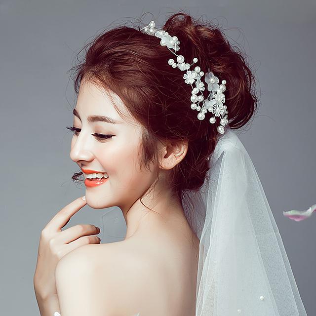 Meibida simulado-pérola da noiva acessório acessórios de casamento acessório do casamento banda sem véu