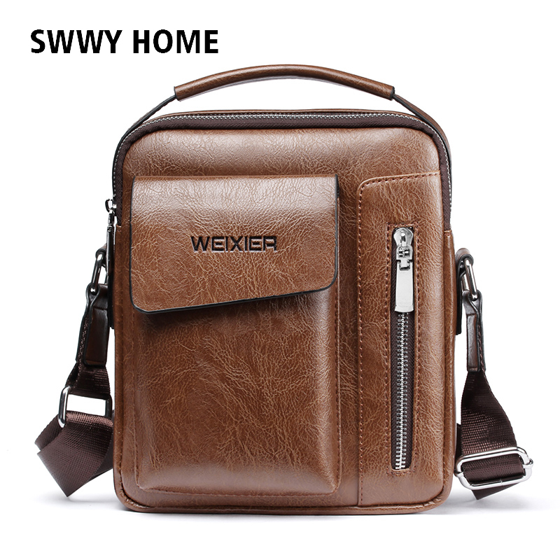 Fashion Men Briefcase Leather Shoulder Bags Men Messager Bag Men's Crossbody tote Business Handbag High Quality Male Travel bags