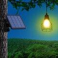 Ousam LED Solar Licht Kronleuchter Hängen Solar Lampe 3 Meter Schnur Traditionellen Edison Birne Hängen Solar Garten Licht
