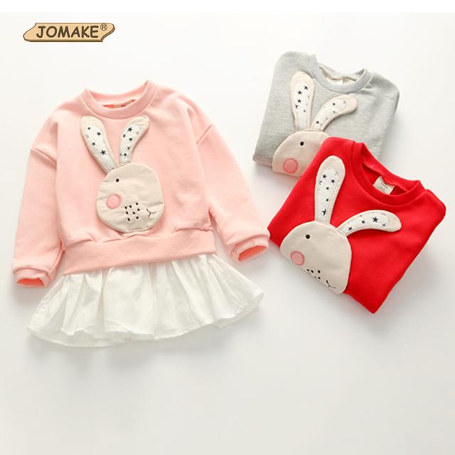 Niñas sudadera conejo lindo chicas sudaderas con capucha, sudaderas de manga larga 2017 nueva primavera otoño niños tops casuales niños clothing