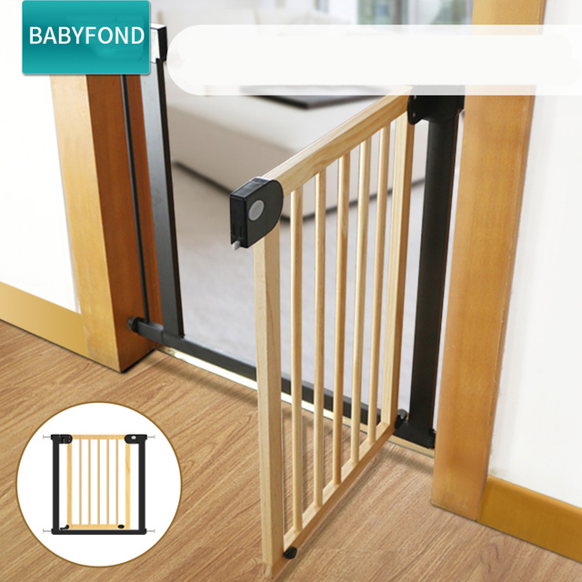 Babysafe Stairs Guardrail  Child Safety Door  Solid Wood Baby Protection Fence  Infant Kitchen Fence Door