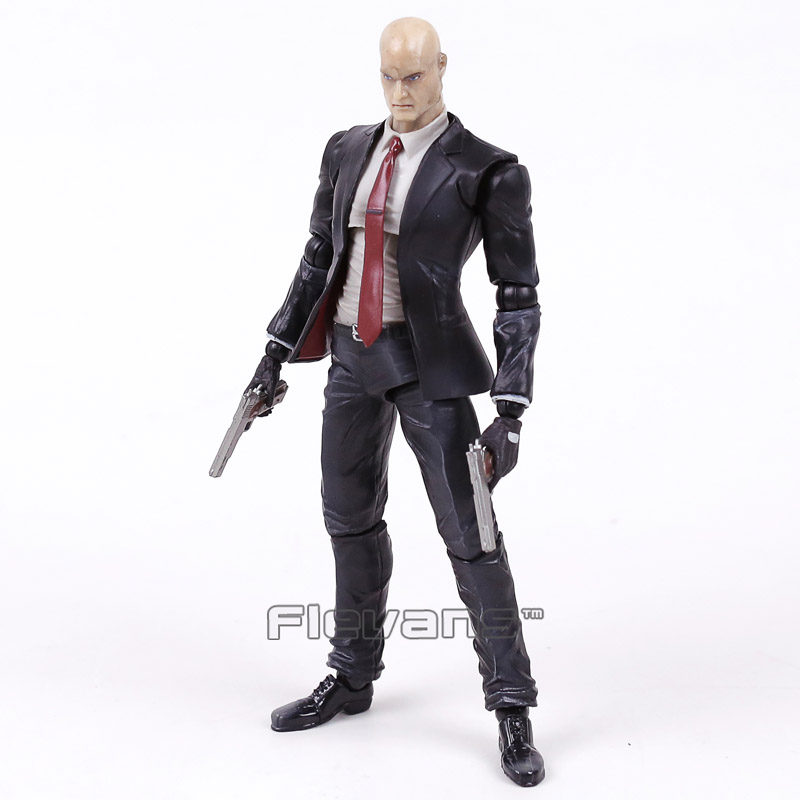 PLAY ARTS KAI Hitman Codename 47 PVC Action Figure Collectible Model Toy 23cm neca planet of the apes gorilla soldier pvc action figure collectible toy 8 20cm