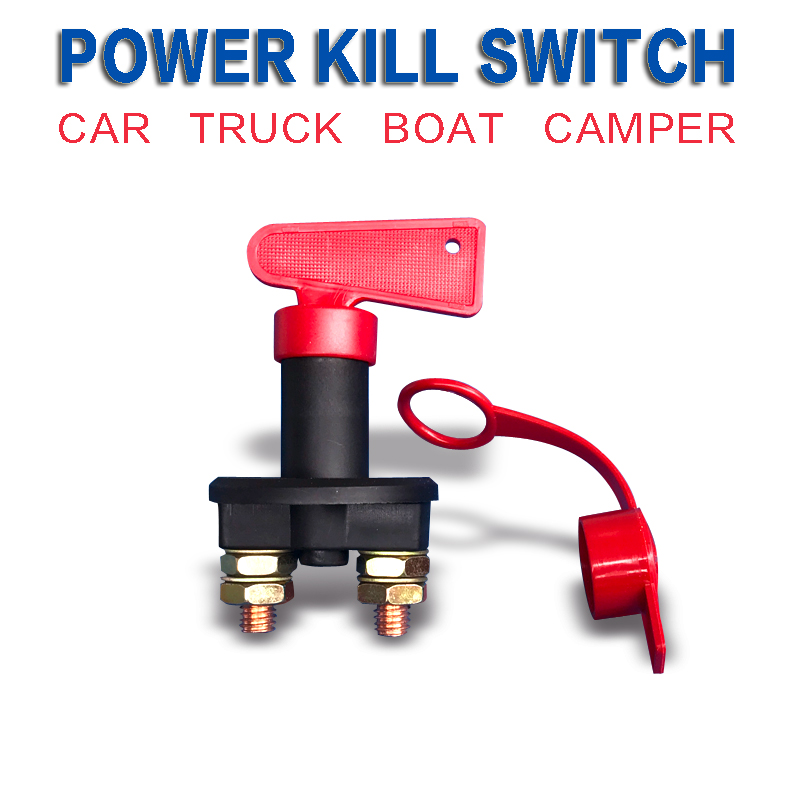 Power Switch Auto Universal Battery Isolator Master Cutoff Cut Off Power Kill Switch 300A + Key + Waterproof Cover 660v ui 10a ith 8 terminals rotary cam universal changeover combination switch