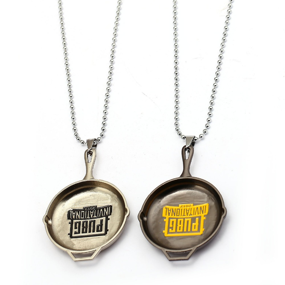 Metal Pan Playerunknowns Battlegrounds Necklace PUBG Pandants Beads Chain Men Women Gift Kolye Jewelry Choker Colar Steampunk