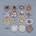 Nueva mis monedas 33mm fit 35mm portamonedas colgantes modo feliz flor con cristal negro super hero collar para mujer ms. girl