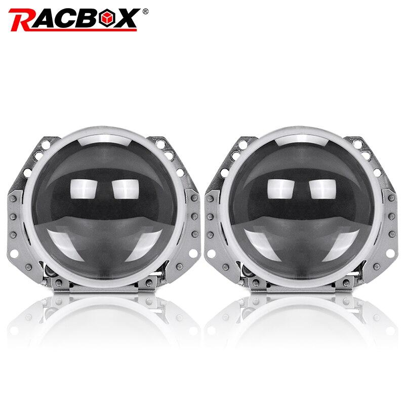 RACBOX 2 pcs 3.0 pouce Auto Phare De Voiture HID bi-xénon Pour Hella 5 Lentille De Projecteur Remplacer Phare Retrofit d1S D2S D3S D4S Ampoule