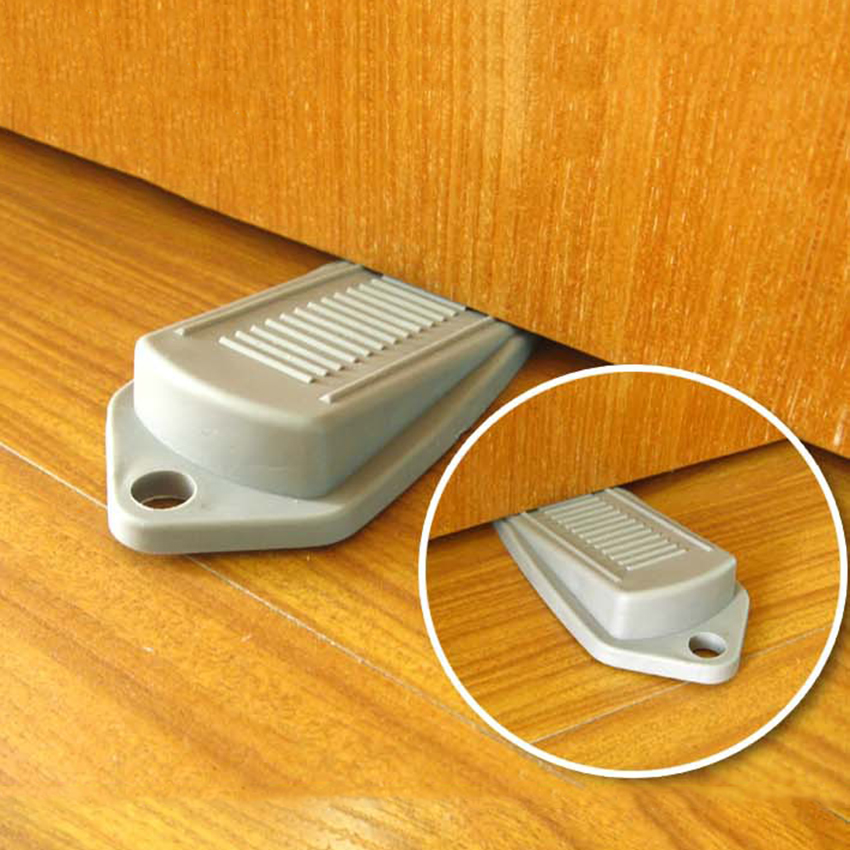 Rubber Wedge Door Stop Children Security Door Holder Safety Prevent Keep Door From Slamming Random Color new rubber wedge door stop stopper holder safety prevent keep door from slamming safely security gray white free shipping