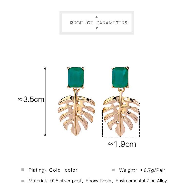 Joolim Green Resin Leaf Drop Earring Fashoin Cheap Earring Wholesale in Drop Earrings from Jewelry Accessories